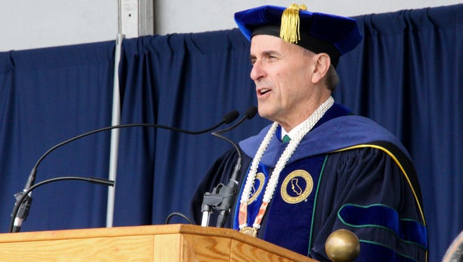 Dr. Eduardo Ochoa, CSUMB President at the 2017 afternoon commencement ceremony.