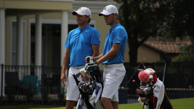 UWF men's golf coach Steve Fell (left), was named as a member of this year's GCAA Hall of Fame class on Thursday.