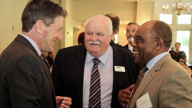 Assemblyman Andrew Zwicker (left), Bill Neary (center), executive director of KMM, and Tab Chukunta, executive director, Community Outreach, Diversity and Inclusion, Saint Peter's Healthcare System, were among those who attended Keep Middlesex Moving's Annual Membership Meeting.