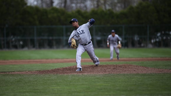 Yale sophomore left-handed pitcher Kumar Nambiar is