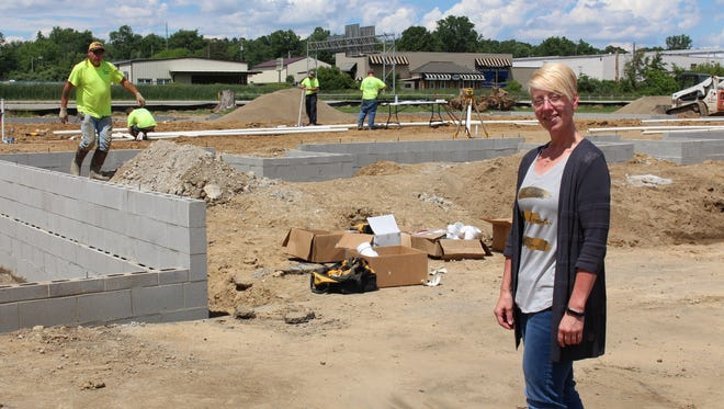 Assembly Child Care director Tammi Griffeth stands in front of the construction site at Assembly Child Care on Monday, June 19, 2017. The day care, which is attached to Mansfield First Assembly of God, is nearly doubling its number of classrooms.