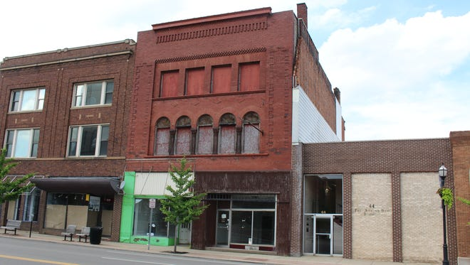 46 Park Ave. West, seen here Wednesday, June 21, 2017, includes two storefronts on the first floor and four apartments on the second and third floors. Property owner Carl Fernyak's plan is to renovate the building to create new business and downtown living options.