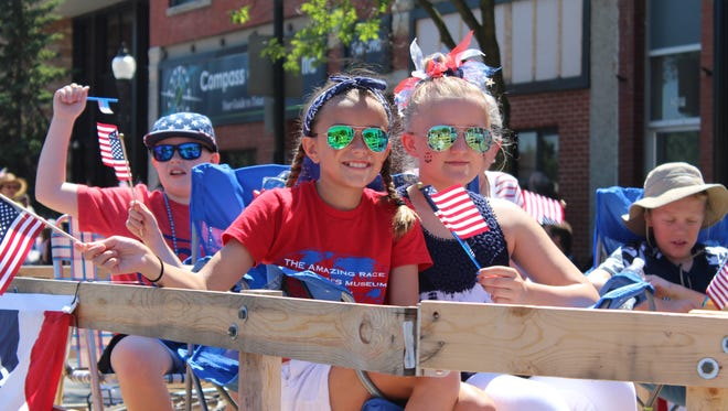 The Fourth of July parade in Stevens Point had crowds lining both sides of Main Street on Tuesday morning.