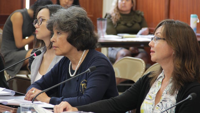 During a budget hearing with the Committee on Appropriations on July 5, Public Auditor Doris Flores Brooks asks lawmakers for a $1.8 million budget appropriation for the upcoming fiscal year.