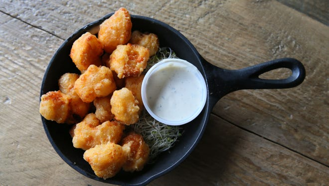 Fuel Cafe in Walker's Point serves cheese curds from Clock Shadow Creamery that are fried in beer batter and served with ranch dressing.