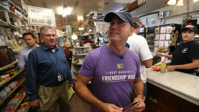 Miami Beach Mayor Phillip Levine tours Bradley's Country store off of Centerville Road in northern Tallahassee where stopped by on his Sirius radio show's tour of Florida.