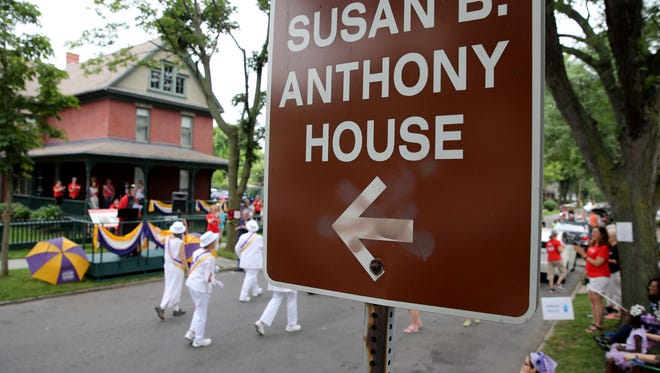 The Suffragist City Parade is among several events in VoteTilla, a weeklong celebration marking the 100th anniversary of women's right to vote in New York State. The event began in Seneca Falls with events concluding at Susan B. Anthony Square in Rochester, NY.