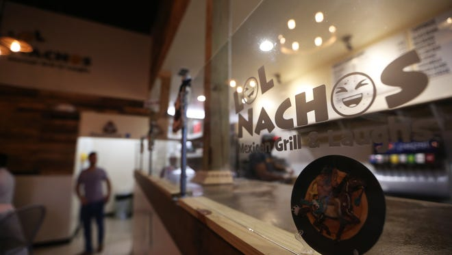 LOL Nachos Mexican Grill and Laughs on West Pensacola Street, which opened last month, features a full menu of Mexican fare and twice-weekly live comedy nights.
