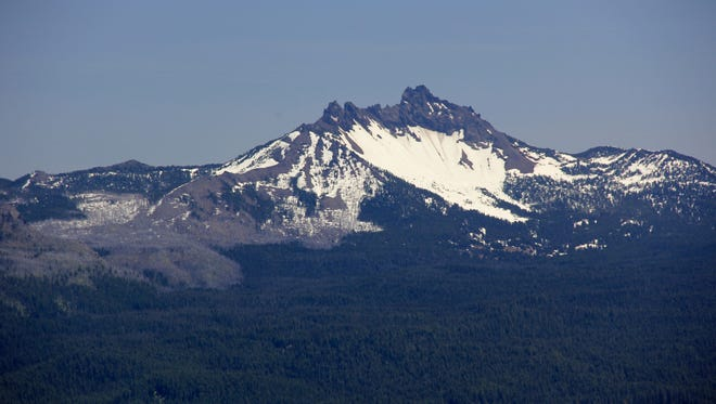 Three Fingered Jack from Summit of Middle Pyramid.