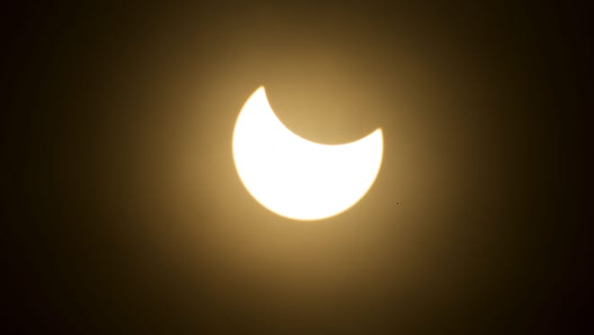 Aug. 21, 2017, marks the first total solar eclipse to cross the United States since1918, but only two-thirds of the sun will be covered at the peak here in Arizona.