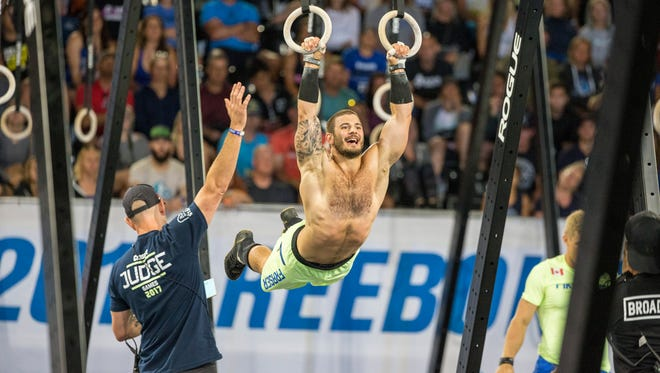 Mat Fraser during the event called Amanda .45 at the 2017 CrossFit Games in Madison, Wisconsin.