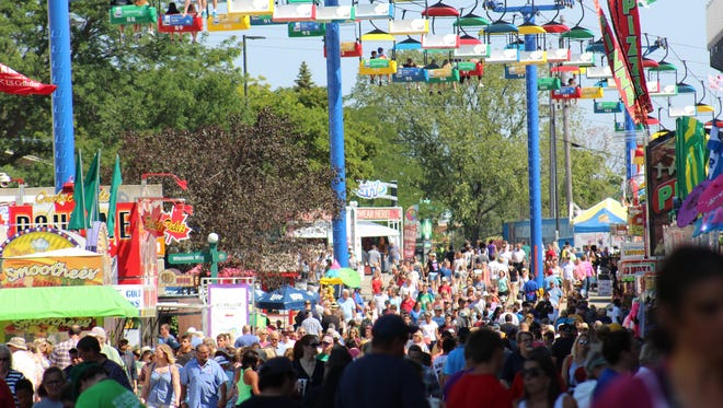 File photo of Wisconsin State fairgoers.