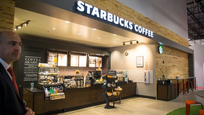 Starbucks Coffee inside Hy-Vee Inc.'s new Helpful Smiles Technology center in Grimes, Wednesday, Aug. 9, 2017.