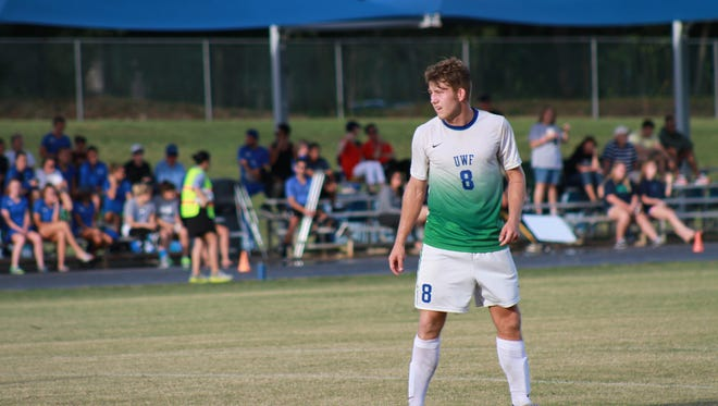 UWF midfielder Kameron Bethell was named second team All-Gulf South Conference on Monday.