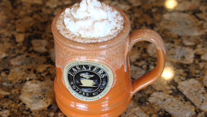 The pumpkin spice latte at Lasater's Coffee and Tea in Clarksville is served year-round, unlike a lot of coffee shops.