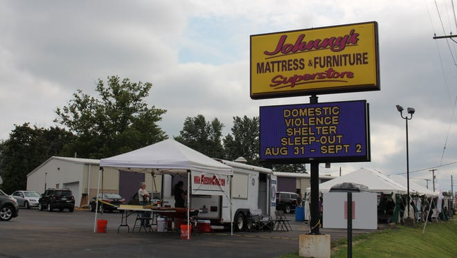 The Great Sleep-Out Against Domestic Violence is this weekend at Johnny's Mattress & Furniture Superstore on Ashland Road. Teams will compete to see who can stay awake the longest and raise the most money for the Domestic Violence Shelter.