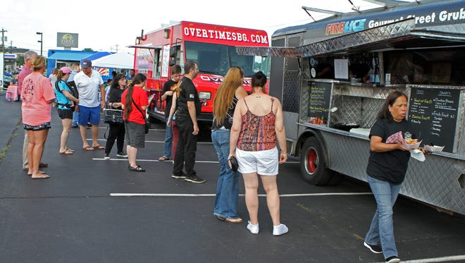 Several local food trucks came together for a Friday afternoon street food fair on Wilma Rudolph Boulevard, June 2.