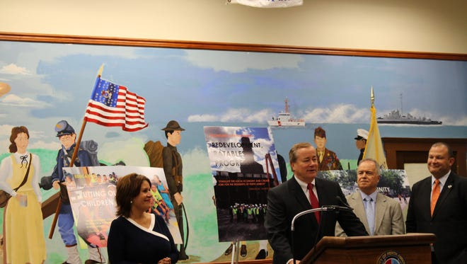 Perth Amboy Mayor Wilda Diaz and others gathered for the unveiling of task force recommendations for the city.