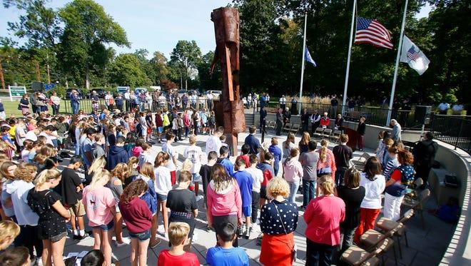 Morris Plains holds its annual remembrance ceremony at the 9/11 Memorial. September 11, 2017, Morris Plains, NJ