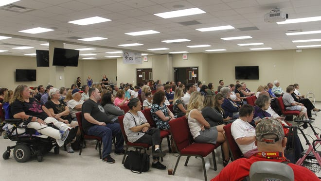 More than 80 people attended a health-care town hall Monday, Sept. 11, 2017, at the Southwest Center for Independent Living in Springfield.