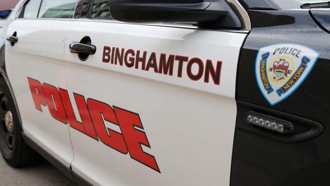A City of Binghamton Police cruiser on Wednesday, September 13, 2017.