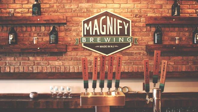 Tasting room at Magnify Brewing Company