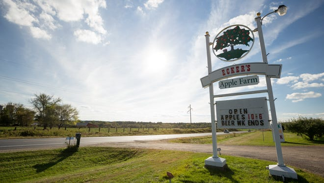 Fall brings apples and cider for sale at Ecker's Apple Farm in Trempealeau. It also has the Hog's Back Brew Farm,an open-air space that dispenses beer from 12 taps with one always dedicated for Ecker's Apple Farm cider.