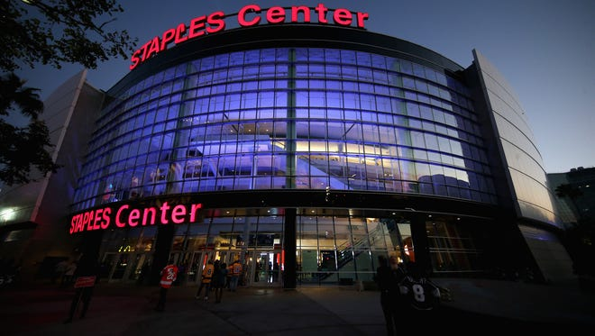 The Flyers help open the Staples Center for hockey in the 2017-18 season.