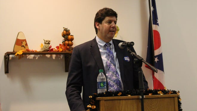 Ohio attorney general candidate Steve Dettelbach speaks at a Richland County Democratic Women's Caucus meeting on Monday, Oct. 9, 2017. Dettelbach is a former U.S. Attorney for the Northern District of Ohio.