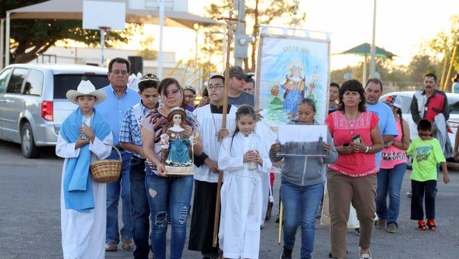 The 2018 procession for the Santa Nino Family Festival on Friday, Oct. 6 was led by children of Santa Ana Roman Catholic Church.
