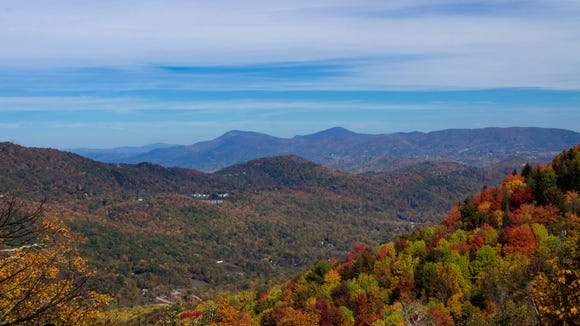 A view from Grandfather Mountain State Park earlier this fall.