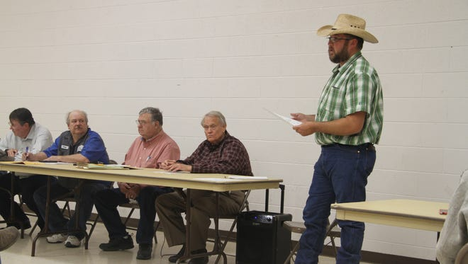 Otis Mutual Domestic Water Consumers & Sewage Works Association general manager Cutter Rogers  discuss projects at Wednesday's regular meeting, Oct. 11, 2017. Rogers said Well 7, which is near London Road, is expected to be back in operation.