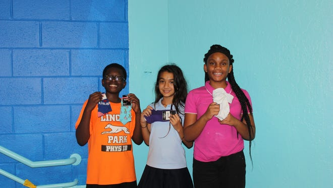 Drop off your donation of new underwear and socks at any of the St. Lucie Boys and Girls Clubs through Friday, Oct. 20. These members of the Ken Pruitt unit show some of the donations already in.