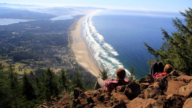 Views from the summit of Neahkahnie Mountain.