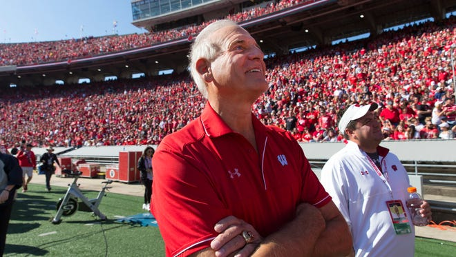 Milwaukee businessman and philanthropist Ted Kellner pictured at the 2017 homecoming football game of the University of Wisconsin.