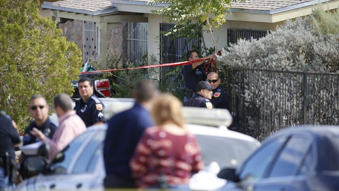 El Paso police investigate an officer-involved shooting Friday afternoon in the 3800 block of Mountain Avenue in Central El Paso.
