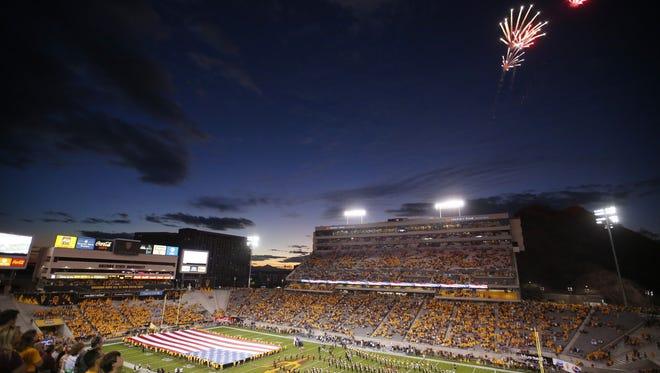 Sun Devil Stadium was not at capacity on Saturday night.