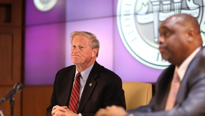 FSU President John Thrasher announces a suspension of all Greek life activities at the university following the death of a Pi Kappa Phi fraternity member Andrew Coffey at an off-campus party Friday.