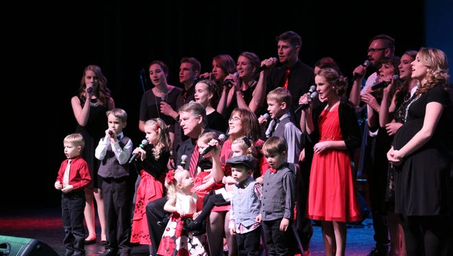 The Seibel Family performs at their annual Seibel Family Singers Christmas Concert. The Seibel family consists of: Tom and Amy Seibel; Emily (Seibel), Chad, Ivy, Ryan, Felix and Juliet Zimmerman; Nate, Leah (Seibel), Connor, Jack and Crosby Gumness; Joel, Lydia (Seibel), Janae, Aubrey, Brooklyn and Addy Duke; Amanda Seibel; Logan and Carrie Seibel; Bethany, Sylvia, Natalie, Lillie, Molly, Dawson and Collin Seibel.