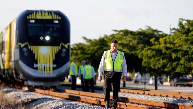 A person was hit and killed by a Brightline train Nov. 1, 2017.
