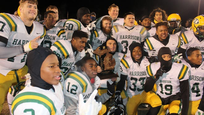 Farmington Harrison captured the Division 3 regional crown Friday night and is now headed for a state semifinal showdown with Riverview.