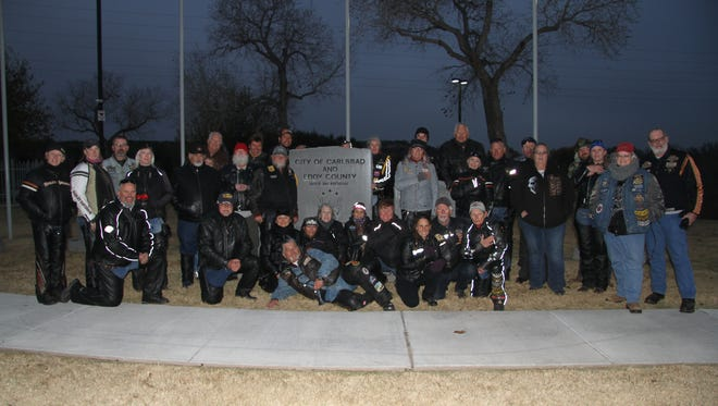 The Turquoise Trail Harley Owners Group (H.O.G.) Club of Albuquerque visited Carlsbad this weekend for an annual Veterans Day motorcycle ride. A group of 35 members visited the Carlsbad Veterans Memorial Park Friday, Nov. 10, 2017