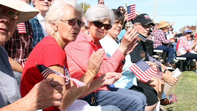 Saturday's Veterans Day ceremony at Veterans Park was attended by over 200 community members, veterans and their families.