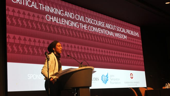 Inam Sakinah talked about Power of We's structure in relation to critical thinking.
