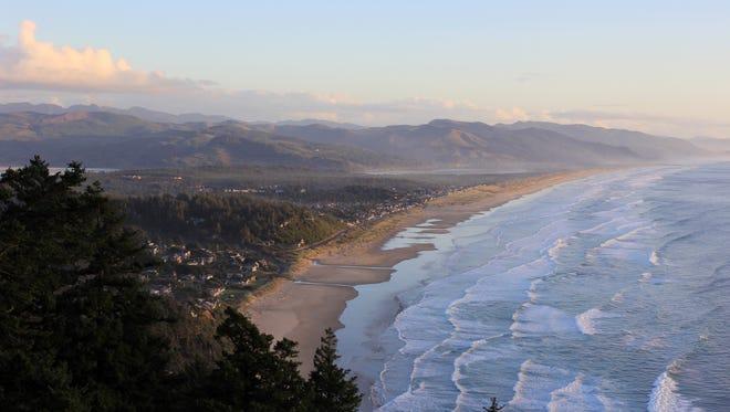 Overhead view of Manzanita along the Oregon Coast.