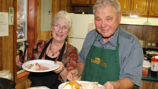 The Dotsonville Community Center hosted its annual Harvest Dinner Saturday. The Thanksgiving style dinner was complete with baked ham, roasted turkey and dressing, sides and desserts.