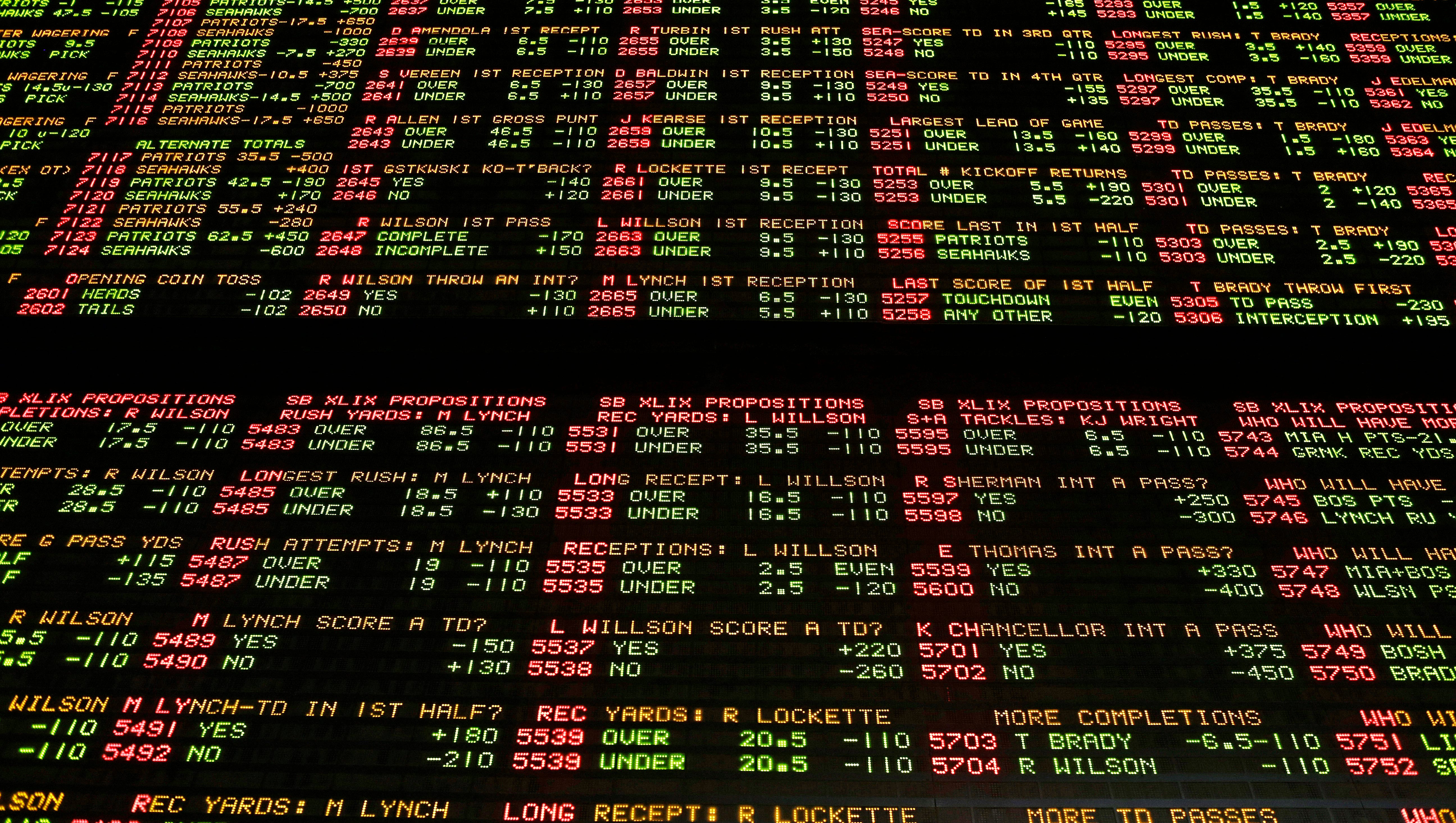betting line nfl today