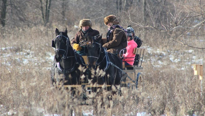 Horse-drawn wagon or sleigh rides will be offered as part of the holiday fun at the Christmas at Marsh Haven event on Dec. 9 and 10.
