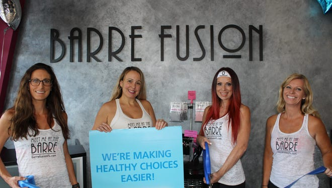 Barre Fusion Pilates studio promotes the Blue Zones Project in Southwest Florida.