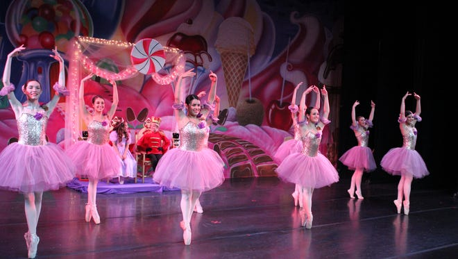 "Dancers perform during a rehearsal for ""Nutcracker Ballet and Christmas Spectacular."""